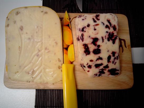 Queso de arándanos, queso de nueces