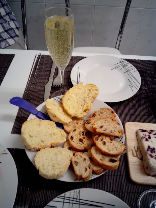 Champagne y queso