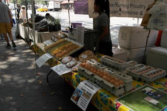 street market, nueva york, huevos, eggs